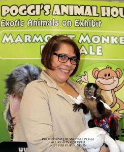 Woman with a Capuchin Monkey