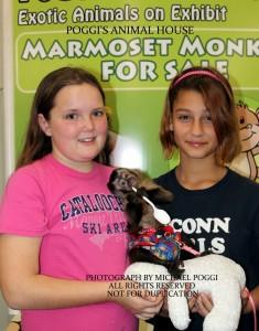 Girls with Capuchin Monkey