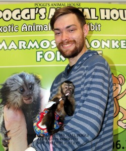 Guy with a Capuchin Monkey