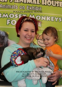 Mom with a Capuchin Monkey